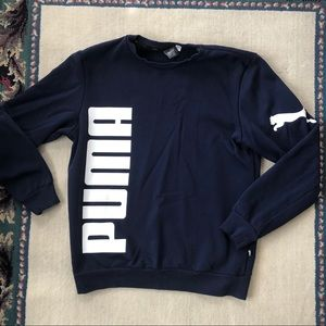 Navy blue puma sweatshirt